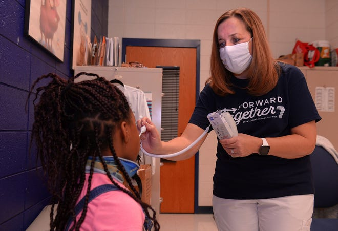 First Spartanburg School Nurse...Recieve COVID-19 Vaccinations