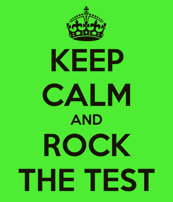 Rock the test image