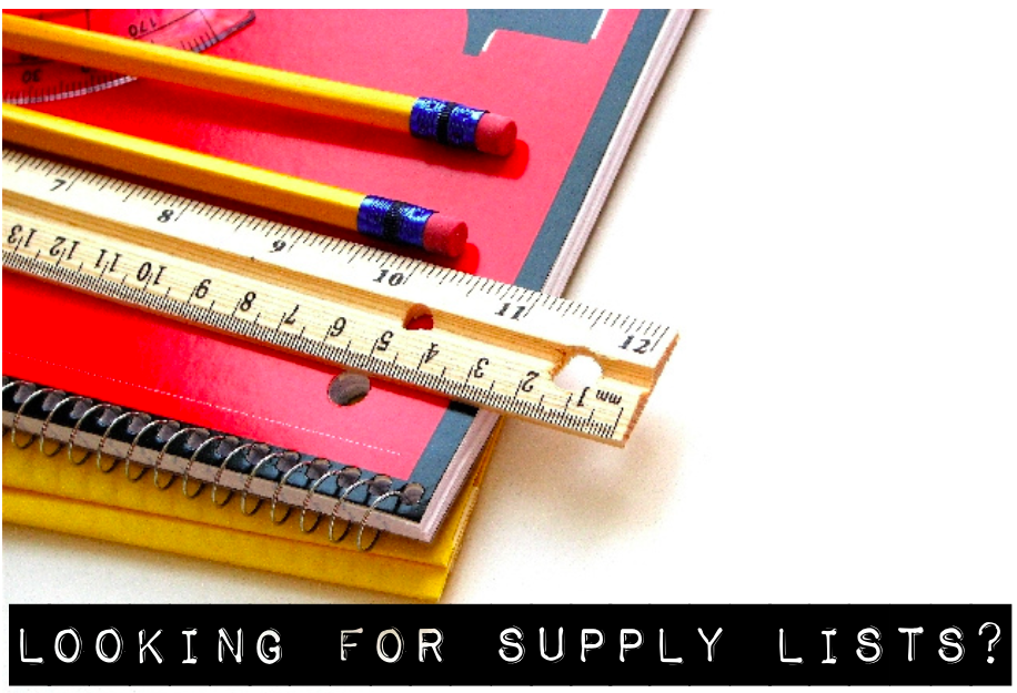 School Supply Lists Posted