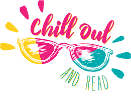 "Sunglasses ""chill out and read"""