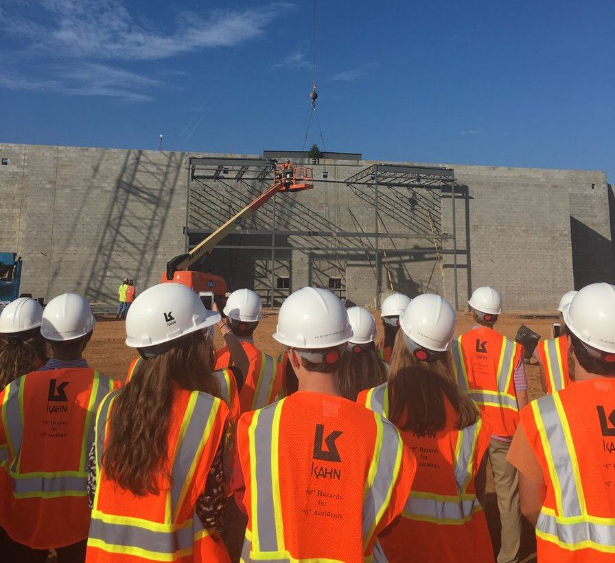 New High School Topping Off Ceremony