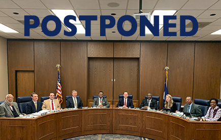 April Board Meeting Postponed Until Further Notice