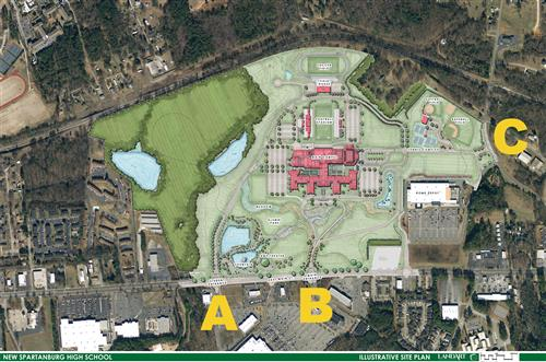 New Spartanburg High aerial view