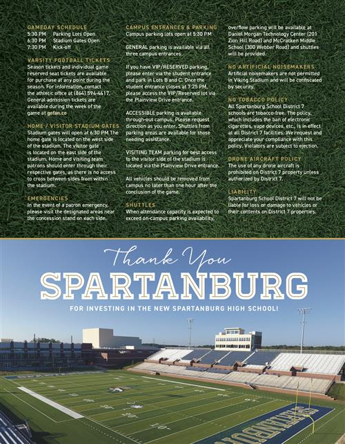 GameDay Brochure