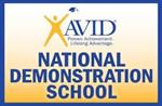 AVID National Demonstration School logo