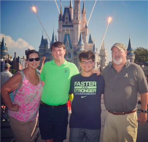 DR. Rose and her family at Disney WOrld