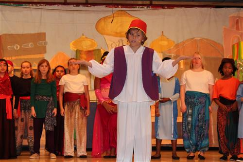 Picture of Aladdin from the school musical