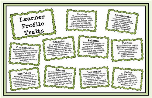 A copy of the Learner Profile Traits