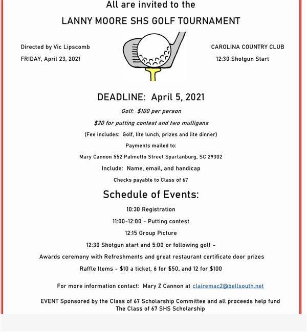 golf tournament flier