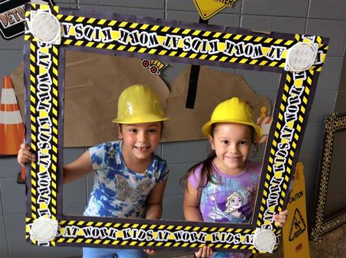 Kids in hardhats